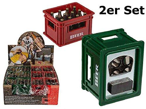 Flaschenöffner mit Magnet Bier Kisten 2er Set - Flaschenöffner, Gartenparty, Feier, Fest (Magnet Bier-flaschenöffner)