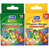 2 * Figo Pflaster Wundverband Kinder 10er Strips Zoo Motive