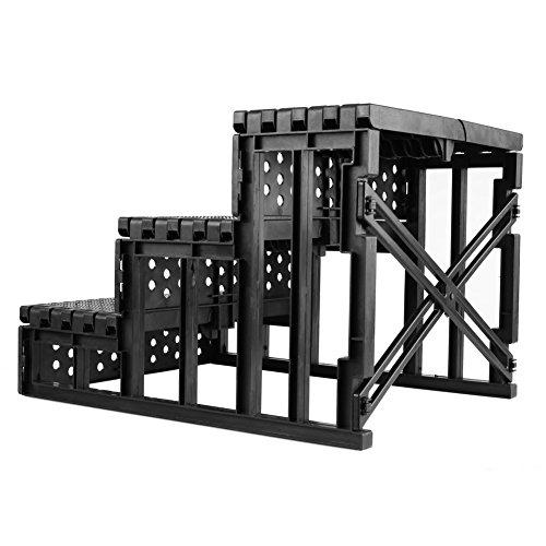 Amzdeal Easy Step Hundetreppe, 45 x 35 x 30 cm, Belastbarkeit,15kgin Weiß - 5