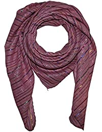 Superfreak® Baumwolltuch mit mehrfarbigem Lurex ° Tuch ° Schal ° 100x100 cm ° 100% Baumwolle ° alle Farben!!!