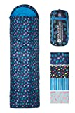 Mountain Warehouse Saco de Dormir Tipo Rectangular Apex 250 - Saco de Acampada con Cremallera bidireccional, Saco de Dormir Ligero - Ideal para Acampada, Invitados Morado Talla única
