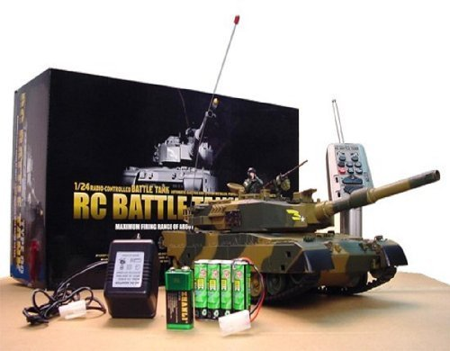 Azimporter 1/24 Defense Force Type 90 Radio Remote-Control R/C Airsoft Army Military Fighting Combat Battle Tank Toy by Team RC