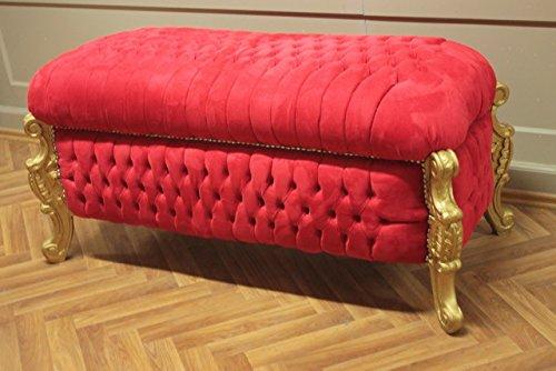 Sgabello sella cesta portabiancheria antico stile barocco in