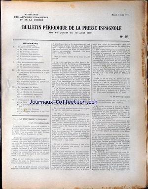 BULLETIN PERIODIQUE DE LA PRESSE ESPAGNO...