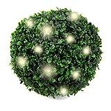 LED Solar Garten Buchsbaumkugel | Künstlicher Buchsbaum Solarlicht | Beleuchtung