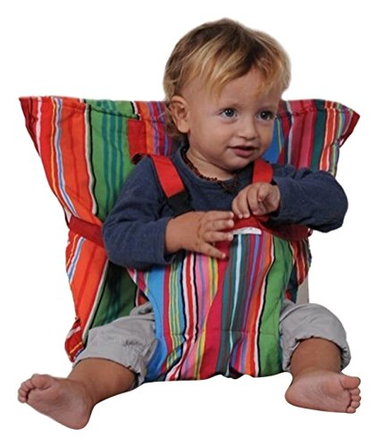 KisKise Seggiolino Portatile, Sack'N Seat, Multicolore