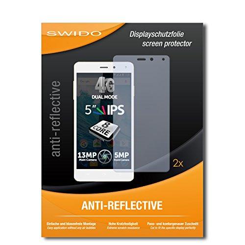 SWIDO Schutzfolie für Allview E4 Lite [2 Stück] Anti-Reflex MATT Entspiegelnd, Hoher Härtegrad, Schutz vor Kratzer/Bildschirmschutz, Bildschirmschutzfolie, Panzerglas-Folie