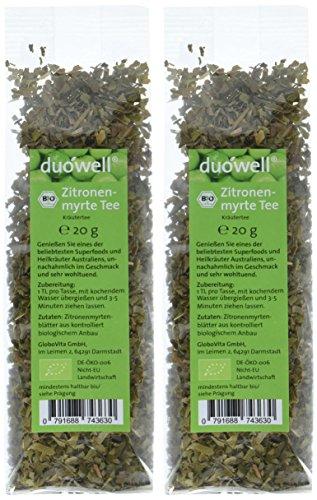 duówell Bio Zitronenmyrte Lemon Myrtle Tee, 2er Pack (2 x 20 g)