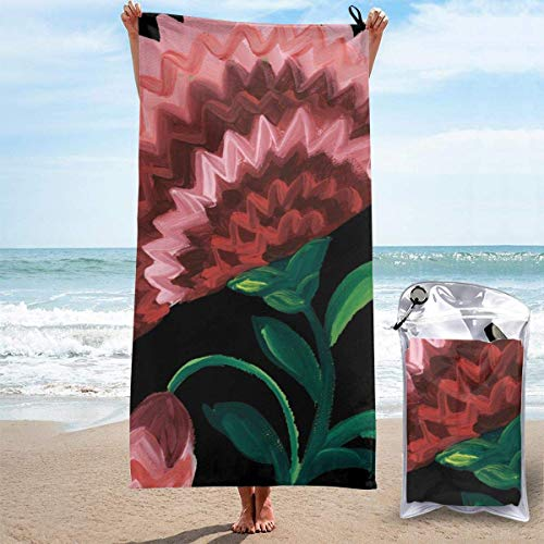 Für Frauen Männer Blanket Tropical Leaves Floral Art Flower Bath Sheets Funny Polyester Multipurpose Large Towel Cover for Yoga Mat Hiking Gym Tent Floor 27.5