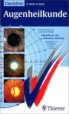 Checklisten der aktuellen Medizin, Checkliste Augenheilkunde