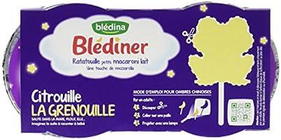 Blédina Blédiner Ratatouille Petits Macaroni Lait dès 12 Mois 2 x 200g - Lot de 4