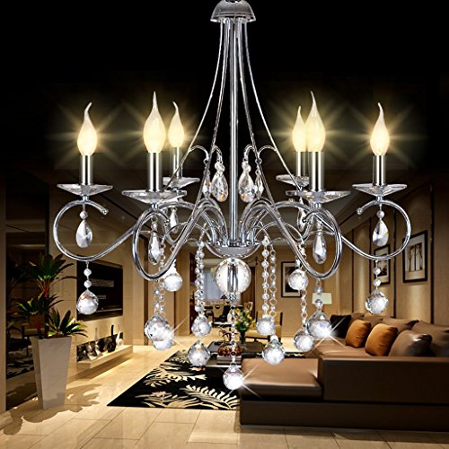 Fu Man Li Lampadario a cristallo moderno, lampadari da salotto di design d'arte, lampadari a candela del ristorante della camera da letto A+