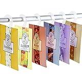 YUMSUM 6X Ropa fresca Perfumada Bolsas perfumadas Bolsas con percha Adecuado para cajones y armarios Habitación Armarios Cuartos de baño (6 Pack)