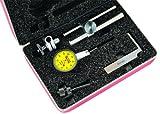 Starrett 708macz Zifferblatt Test Indikator mit Anhänge, Schwalbenschwanzverbindung, Zifferblatt gelb, 0–100–0Lesen, 35mm Zifferblatt Dia, 0–0,2Mm Range, 0.002mm Teilung