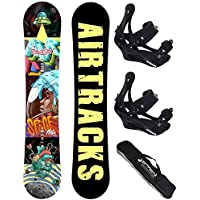 Airtracks Snowboard Set - Tabla Cubo Man 159 - Fijaciones Star M - Sb Bag/nuevo xHb3cn
