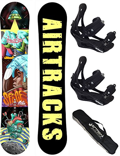 AIRTRACKS SNOWBOARD SET / SPACEMAN CARBON SNOWBOARD WIDE ROCKER + SOFTBINDUNG SAVAGE + SB BAG / 152 157 / cm
