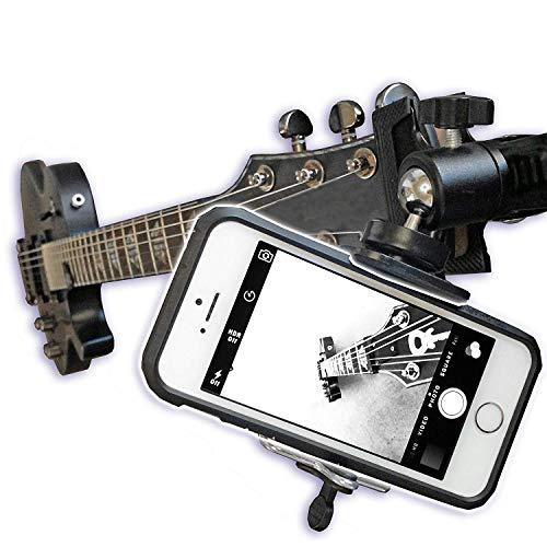 Smartphone-Halterung für Gitarre, Ukulele, für Handys und GoPro Action-Kameras
