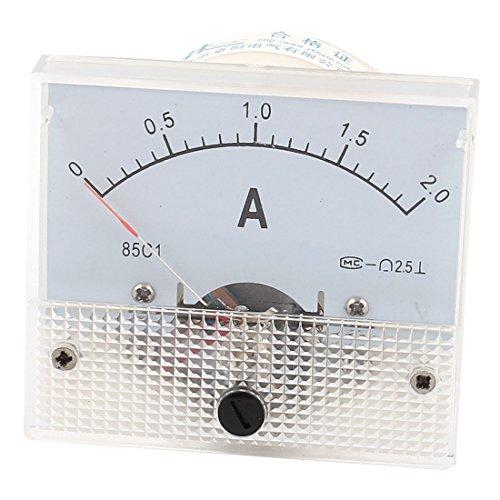 85C17DC 0-2A Klasse 2,5Panel Mount Analog Amperemeter Ampere Meter