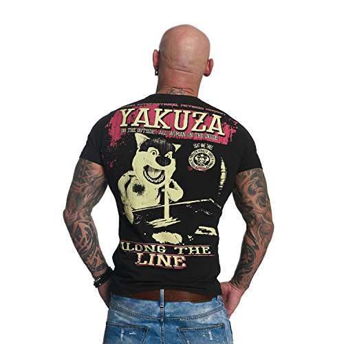 Yakuza Original Herren Along The Line T-Shirt Schwarz
