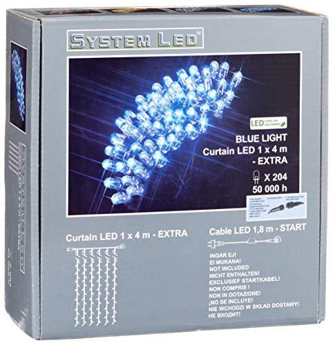 System LED 465-59-14 Extra Rideau lumineux LED Bleu 100 x 400 cm