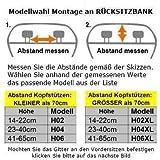 OVITAN Hundegitter fürs Auto 4 Streben universal zur Befestigung an den Kopfstützen der Rücksitzbank – für alle Automarken geeignet – Modell: H04 - 4
