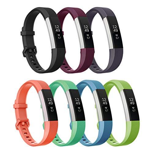 Fundro Für Fitbit Alta und Fitbit Alta HR Armband, Einstellbar Köper Ersatz Band Armbänder für Fitbit Alta hr and Alta Band mit Metallschließe