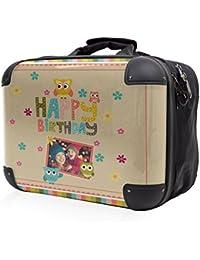 HAUPTSTADTKOFFER® STYLE · Sac à bandoulière · COQUE FRONTALE TRANSPARENTE · DESSIN INTERCHANGEABLE (Happy Birthday 1)