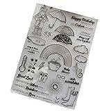 Wiffe transparente Stempel aus Silikon zum Basteln, Skizzenbuch, Tagebuch, Album, Foto, T1203,Glückwünsche