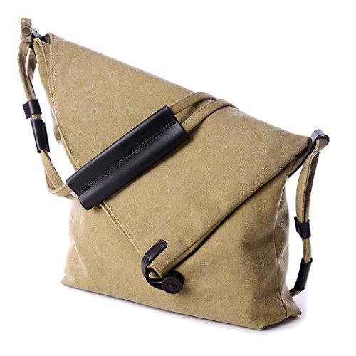 Ularma Damentasche Umhängetasche Vintage Canvas Praktisch Schultertasche Khaki
