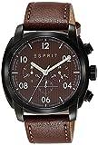 Esprit Herren-Armbanduhr Chronograph Quarz Leder