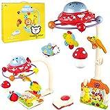 Scenique 2in1 Mobile für Baby Kinderbett und Bodenspiele elektrisch mit Projektor klappbar rot