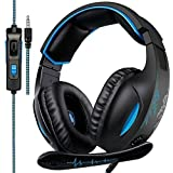 2018 Nuevo SADES SA816 Multi-Platform Auriculares Gaming, 3.5mm Gaming auriculares con micrófono inteligente cancelación de ruido para nueva Xbox One/PS4/portátil/Mac/Tablet/iPhone/iPad/iPod