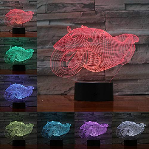 Modellismo di auto elettriche per motocicli Luci 3D illusion night light Lampadina LED multicolor touch Base USB lava RGB camera da letto illuminazione ## 5