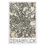 artboxONE Poster 60x40 cm Städte Retro Map Osnabrück