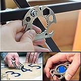 TAOtTAO Multifunktionaler Schraubendreher für Flaschenöffner Tragbarer Multifunktionsschlüsselring-Flaschenöffner-Schlüssel-Taschen-Schraubendreher-Werkzeug
