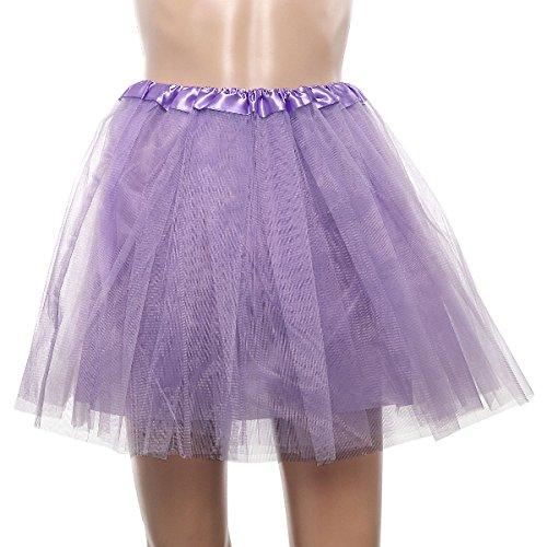 xhorizon FM8 Unterrock Tutu Ballet Partykleid Rock mit Punktmustern im 1950s Vintage-Stil Helles Lila