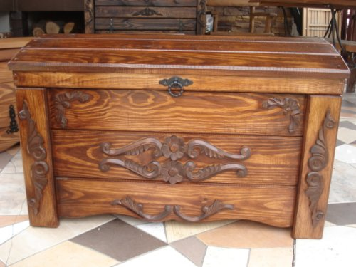 Affordable Wooden Blanket Box Coffee Table Trunk Vintage Chest Wooden Ottoman Toy Box (ER1) Discount