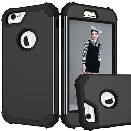 iPhone 7 Plus Case Protective, Soft Silicone Ultra Thin Impact Resistant Case Cover for iPhone 7 Plus Black