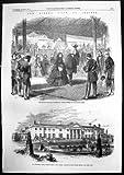 Copie antique de visite de la Reine à l'atterrissage de l'Irlande à la loge vice-royale 1861 de Kingstown