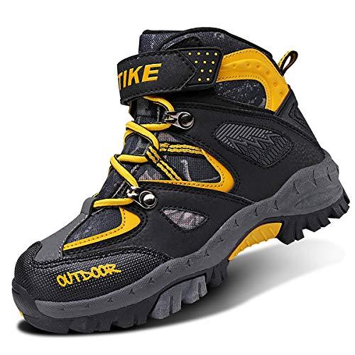 VITIKE Chaussures en Coton pour Enfants Bottes de Neige d'hiver Chaussures de randonnée Garçon Walking Trekking léger Outdoor Sporty Shoes Bottes d'escalade, Jaune, 30 EU