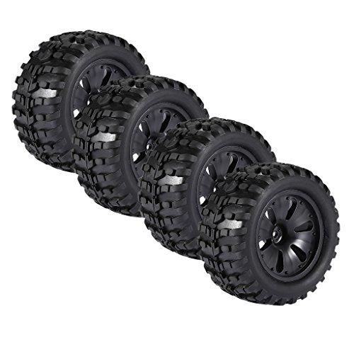 MagiDeal 4 Pièces 1/10 RC Monster Truck Roues Pneus avec Jante Pour HPI, Savage, XS, TM Flux, MT, ZD Racing, LRP
