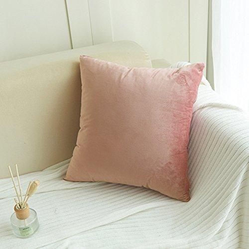 Baumwolle Samt Wurf Kissen (Aiserkly 45x45 cm Samt Kissen Sofa Taille Wurf Kissenbezug Home Decor Kissenbezug)