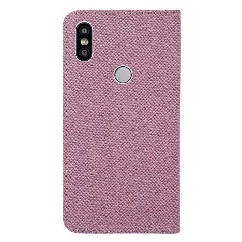 sinogoods para Xiaomi Redmi S2/Redmi Y2 Funda, Cuero De La PU Magnético Capirotazo Billetera Apoyo Bumper Protector Cover Funda Carcasa Case - Rosa roja