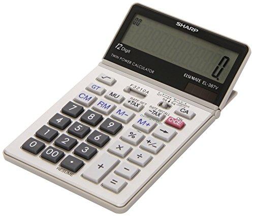 Sharp EL-387V Tischrechner, Steuerberechnung, Datumsberechnung, 12-stellig
