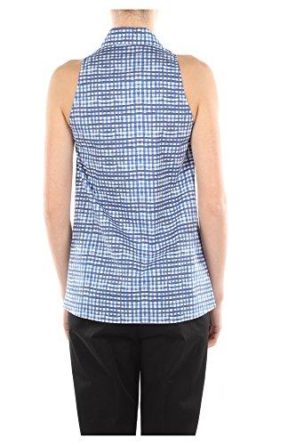 240511AVIOPOPELINE Prada Chemises Femme Coton Bleu Bleu