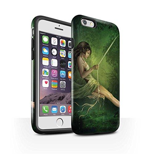 Officiel Elena Dudina Coque / Brillant Robuste Antichoc Etui pour Apple iPhone 6 / Balançoire Étang Design / Un avec la Nature Collection Balançoire Étang