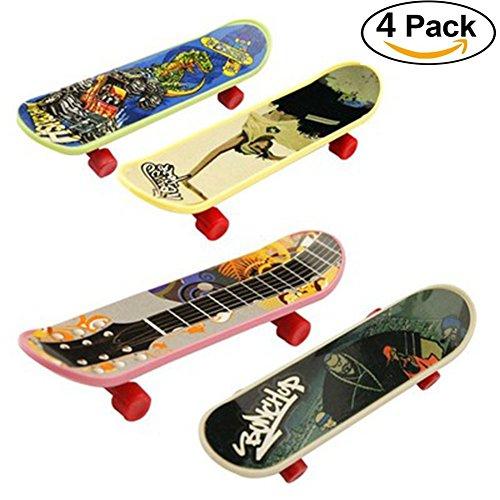 KroY PecoeD Mini Griffbrett Tech Deck Truck Skateboard Spielzeug Kinder Kinder( 4 Pcs-Plastic) (Spielzeug Skateboard Mini)