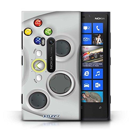 KOBALT® Hülle Case für Nokia Lumia 920 | Nintendo Game Boy Entwurf | Spielkonsolen Kollektion Weiß Xbox 360