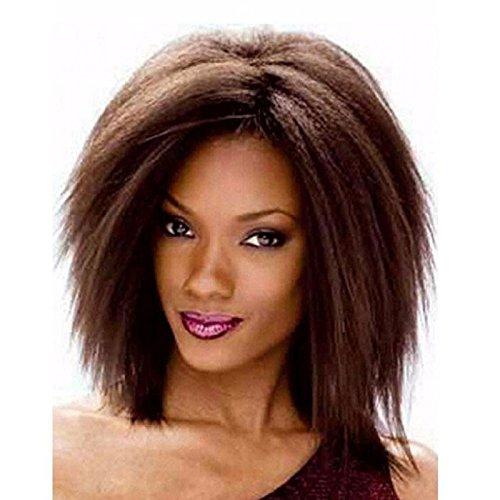Kurz Yaki glattes Haar Kurz Afro Frauen Perücken hochwertigem Synthetik Perücken für Damen (Afro Perücken Männer Kurze Für)