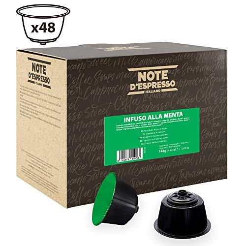 Note D'Espresso - Cápsulas de menta poleo compatibles con cafeteras Dolce Gusto, 3g (caja de 48 unidades)